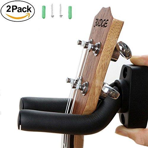 Gitarre Kleiderbügel, 2Stück Wandhalterung verstellbar Display Halterung Haken Ständer für Bass-Elektro-Akustische Gitarre Banjo Ukulele