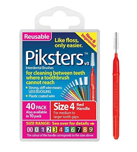 Piksters 0.65mm Gr. 4gelbe Bürste für die Zahnzwischenräume 40Stück -