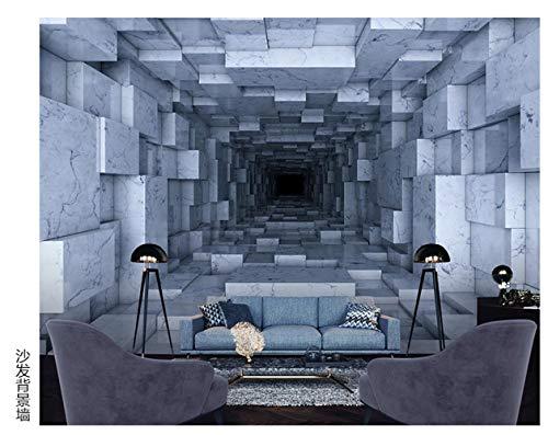 BXZGDJY Peinture Murale Autocollante (W) 400X (H) 280Cm Espace 3D  Stéréoscopique Vent