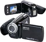 JAY-tech VideoShot TDV2160 Camcorder (3 Megapixel, 3,8 cm (1,5 Zoll) LCD Display, 4-fach digitaler Zoom, 32MB interner Speicher, SDHC Karten-Slot) schwarz - Jaytech