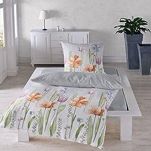 Seersucker Bettwäsche 135200 Baumwolle Blumen Günstig Online Kaufen