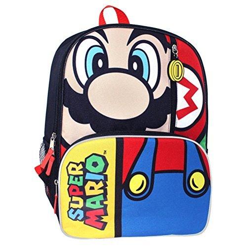 Nintendo Super Mario 40,6cm Rucksack mit Mesh-Seitentaschen -