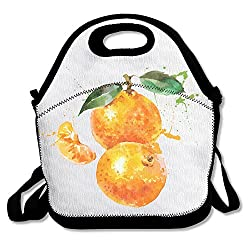 Purple Phantom Tangerines Durable Easy Outdoor Lunch Bag Lunch Box Thermal Insulated Tote Cooler Lunch Pouch Gift For Women Men Kids Girls