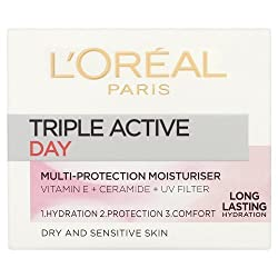 Loreal Paris Triple Active 24 Hydration Multi-Protection Day Moisturiser 50 ml With Free Ayur Sunscreen 50 ml