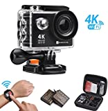 Action Kamera, 4K WIFI Ultra HD Videokamera Wasserdichte DV Recorder 12MP Tauchen Actionkameras, 2...