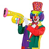 Aufblasbare Tuba Trompete Clown gelb Zirkus Posaune Musik Instrument aufblasbar Aufblasbares Blasinstrument Kostüm Accessoire