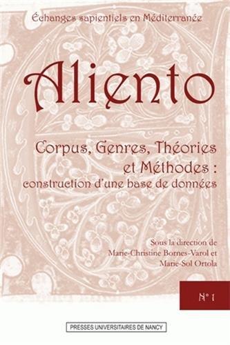 Corpus, Genres, Thories et Mthodes : construction d'une base de donnes : Echanges sapientiels en Mditerrane