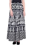 Bottom Line Women's Cotton Stylish Printed Multi Color Plazo (Free Size,Assorted Design in Black and White )))