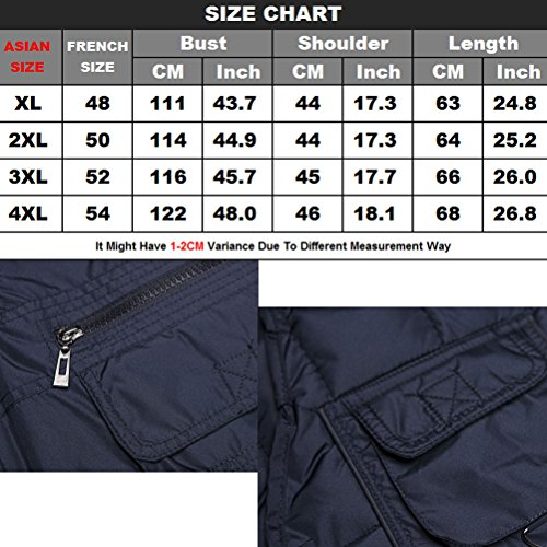 Zhhlaixing Guter Stoff Mens Autumn Winter Thick Vest Cotton Padded Fishing Vest Gift for Father's Day Coffee