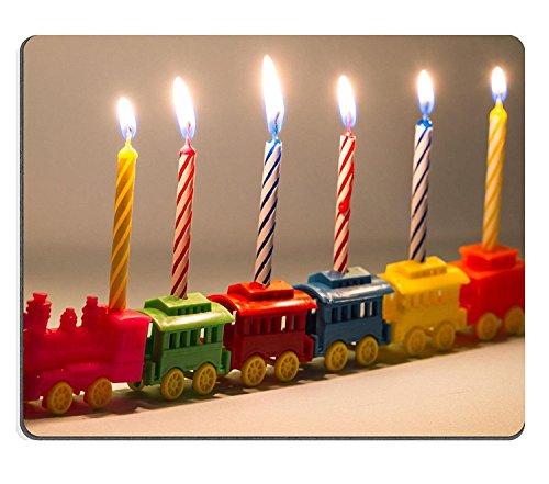 Caucho Natural Gaming Mousepads juguete de plástico de seis Lit rayas velas de cumpleaños