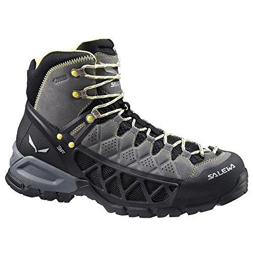 Salewa Ms Alp Flow Mid Gtx, Chaussures de Randonnée Hautes homme Gris Jaune