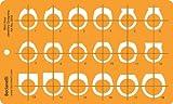 Joyería joyas Art Craft diseño plantilla de dibujo redacción Stencil–anillos anillo vista lateral