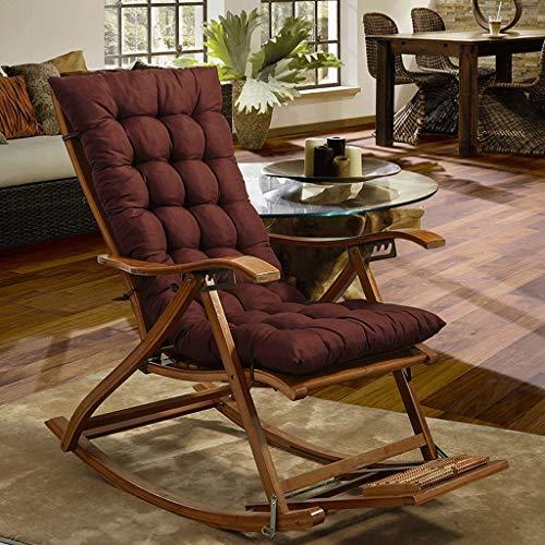 RXF Rechteckiges Sitzkissen Rutschfeste, gepolsterte Liegematte Innen- und Außenschaukelstuhlkissen Heimsofa Baumwolle Pad-Enthält keinen Schaukelstuhl (Farbe : Brown, größe : 48x160cm) -