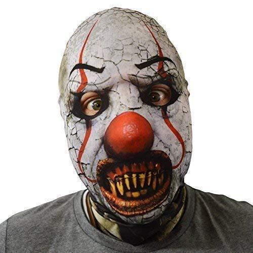 Exorzist Kostüm Maske - gruselig Halloween Gesichtsmaske Killer Smile gesprungen