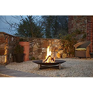 Arte Puro Feuerstelle 80 cm Edelstahl/Stahl anthrazit Sunset