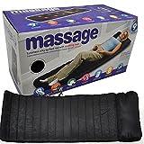 EuroQuality Seidig-gesteppte 9-motorige Vibrations-Massagematte mit wohltuender Wärme & vollem Körper-Massagekissen & Massagematte Mit Wärmefunktio