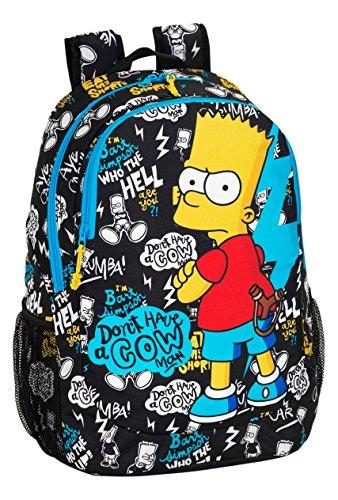 Safta 077150 The Simpsons Mochila Escolar, Color Negro Safta