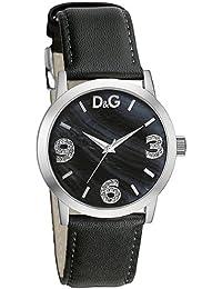 af53d324bd63 D G Dolce Gabbana DW0689 - Reloj analógico de mujer con correa de acero  inoxidable negra