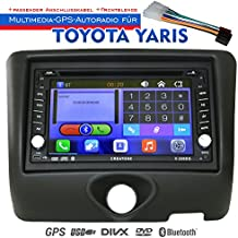 2DIN Auto Radio Creatone V de 336dg para Toyota Yaris (1999–2003) con GPS Navegación (Europa), Bluetooth, pantalla táctil, reproductor de DVD y función de USB/SD