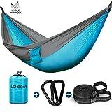 Lenbest Double Fonction Hamac de Voyage Camping, Respirant Portable Durable, 300 kg...