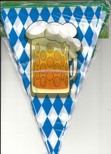 Boland Filare Bandierine Boccale Festa della Birra, Azzurro/Bianco, 54200
