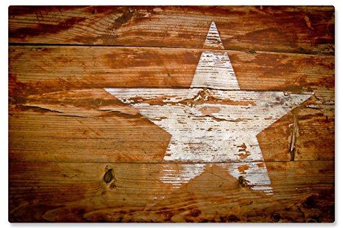 Rutschfeste Design-Schreibunterlage Holzdekor mit Stern 50 x 34 cm, aus DA-Media in Premium-Qualität, Malunterlage, Schreibtischauflage, Schreibtischunterlage