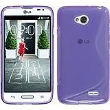 PhoneNatic Funda de silicona para LG L70 - S-Style púrpura - Cover Cubierta + protector de pantalla