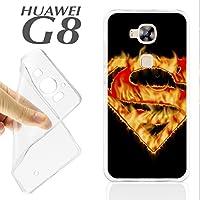 J607 HUAWEI G8 GEL CARCASA FUNDA TPU SUPERHEROE S FUEGO