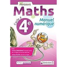 Manuel numerique iparcours maths cycle 4 vol. 4e (DVD enseignant monoposte)