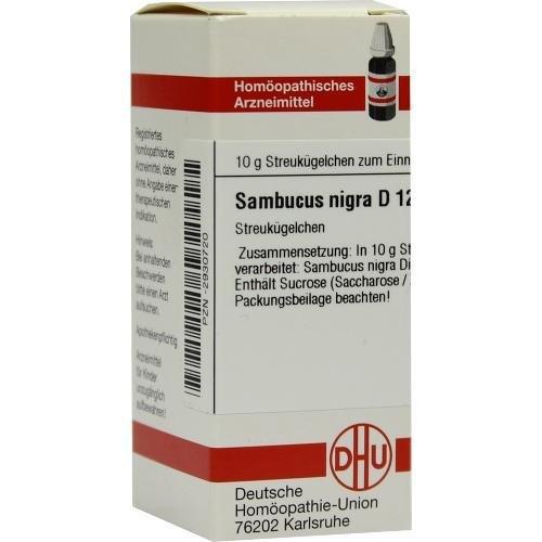 SAMBUCUS NIGRA D12 10g Globuli PZN:2930720