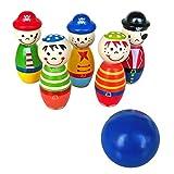 Sharplace Kinder Bowlingspiel Holzspielzeug Kegelspiel Bowling Spiele für Baby und Kleinkinder