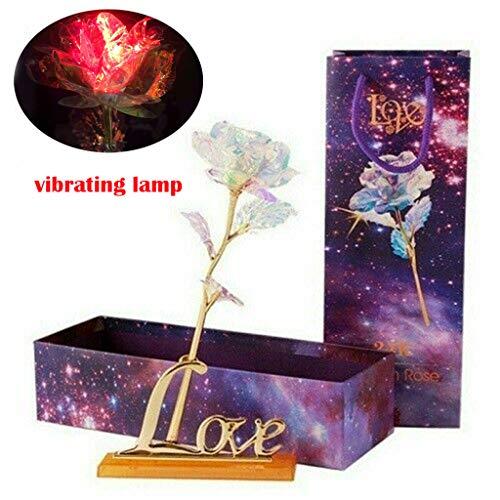 DQANIU ♍♍ Galaxy Rose with Love Base Immerwährender Muttertagsgeschenk aus Kristall Die Beste Wahl (Tattoo Harry Potter-blitz)