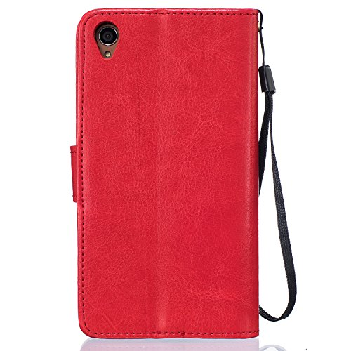 Meet de Dandelion gaufré pour Apple iPhone 6 / iphone 6S Case, Folio pour Apple iPhone 6 / iphone 6S PU Housse,Wallet / flip étui / Pouch / Case / Holster / Wallet / Case en cuir Wallet Style de couve rouge
