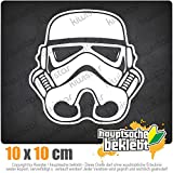 KIWISTAR Stormtrooper Helm 10 x 10 cm IN 15 FARBEN - Neon + Chrom! Sticker Aufkleber