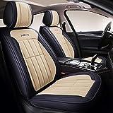 AX-Car Housse de siège Auto, Coussin de Confort arrière en Cuir Respirant pour Accessoires Auto compatibles airbag conducteur (Color : Blue)