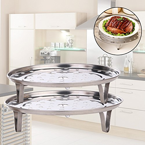 Lilyeyes Stainless Steel Steamer Rack Insert Stock Pot Steaming Tray Stand Cookware Tool