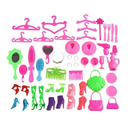 MAJGLGE Madgle, 40 Stück/Set Barbie-Puppe, Zubehör, Schuhe, Taschen, Brillen, Haarspange, Kinderspielzeug, zufällige Farbe (Barbie-puppe Brille)