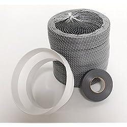 6Metre Gris Extension Flexible pour s'adapter au Portable climatiseurs Connecter Facilement à Votre existant Ventilation Tuyau d'échappement enroulement Il par 6Metres