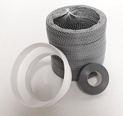Verlängerungsschlauch, für tragbare Klimaanlagen, 6 m, für Abluftöffnung, zur einfachen Anbindung an vorhandenen Lüftungsschlauch, 6-m-Verlängerung, Grau