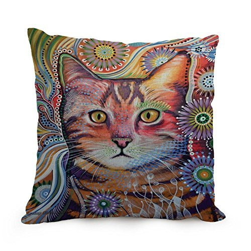 beautifulseason Cat Valentine Day Pillow Covers 12 X 20 Inches/30 by 50 cm for Sofa Floor Saloon Monther Living Room Birthday with Each Side Uniline Line