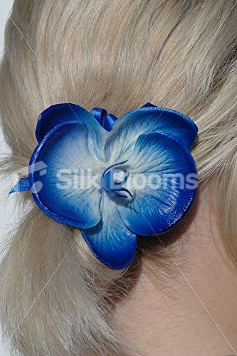 Electric-Azul-Real-Touch-orqudea-Artificial-boda-pelo-clip