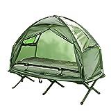 SoBuy® Feldbett 4in1-Zelt mit Campingliege Schlafsack Luftmatratze und Zubehör 1
