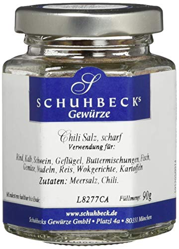 Schuhbeck Chili Salz scharf, 3er Pack (3 x 90 g)