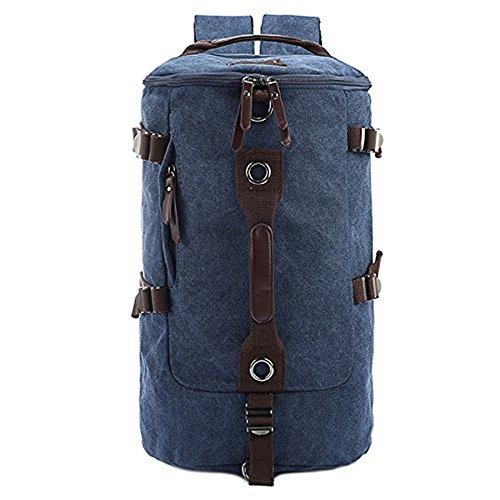 Meoaeo Multifunktionale Umhängetasche, Knapsack, Canvas Bag, Outdoor Sport Reisen, Kaffee Größe Navy Blue