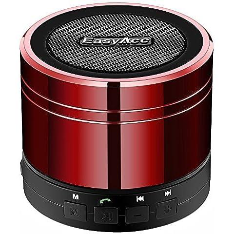 EasyAcc - Altavoz mini portátil para dispositivos con y sin Bluetooth, color rojo