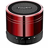 EasyAcc Mini Portable Bluetooth 4.0 Lautsprecher Speaker mit Multifunktions (FM Radio, 3,5 mm Audio, Micro SD Karte Slot, Mikrofon) Rot