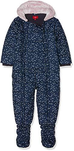 s.Oliver Baby-Mädchen 59.809.85.2758 Schneeanzug, Blau (Dark Blue AOP 58a6), 80
