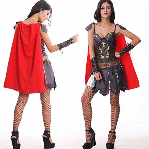 Winter Krieger Kostüm - CYY Weibliche Krieger Halloween Frauen Erwachsene Kleid Cosplay Nachtclub einheitliche Nacht Bar Performance Kleidung