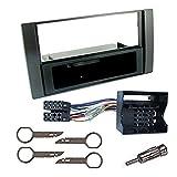 1 DIN Autoradio RadioRahmen RadioBlende einbause für FORD GALAXY / FIESTA / FOCUS / C-MAX / S-MAX / TRANSIT schwarz