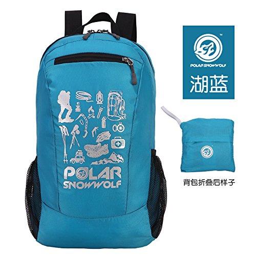 LWJgsa Outdoor - Wander - Tasche Leichte Falten Wasserdicht Haut Tasche Männer Und Frauen Freizeit - Sport - Rucksack lake blau